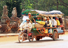 Local motorcycle Bus in Cambodia Stock Image
