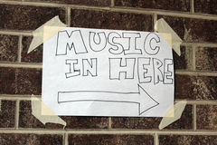 Local Music Sign Royalty Free Stock Image