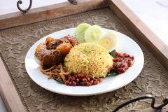 Local nasi lemak Stock Image