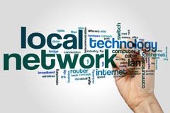 Local network word cloud Stock Photography