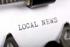 Local News Royalty Free Stock Images