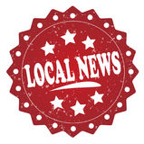 Local news grunge label, sticker Stock Images
