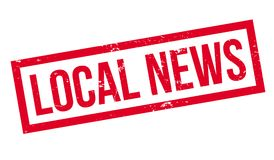Local News rubber stamp Stock Image