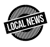 Local News rubber stamp Stock Photo