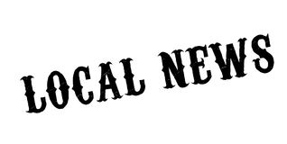 Local News rubber stamp Stock Images