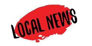 Local News rubber stamp Stock Photos