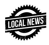 Local News rubber stamp Stock Photography