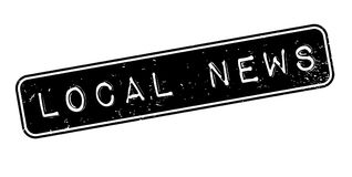 Local News rubber stamp Royalty Free Stock Photography