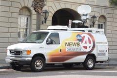 Local news station satellite truck, Charleston, South Carolina Royalty Free Stock Photo