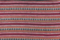 Local north Thailand pattern design made fabric and silk Royalty Free Stock Image