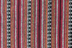 Local north Thailand pattern design made fabric and silk Royalty Free Stock Photos