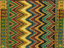 Local north Thailand pattern design made fabric and silk Stock Image