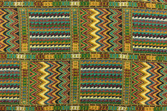 Local north Thailand pattern design made fabric and silk Stock Photography