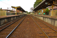 Local old country train station Royalty Free Stock Photo