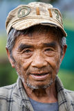 Local Old Man in Chin State, Myanmar Royalty Free Stock Images