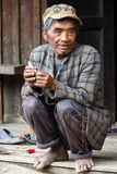 Local Old Man in Chin State, Myanmar Royalty Free Stock Photography