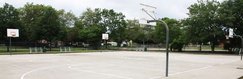 Local outside basketball park Royalty Free Stock Photography