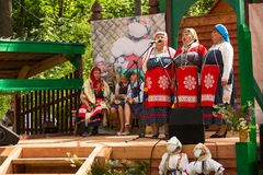 Local people celebrated Ivan Kupala Day, Jul 7, 2013, Tervenichi, Russia. Royalty Free Stock Image
