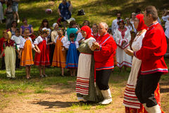 Local people celebrated Ivan Kupala Day, Jul 7, 2013, Tervenichi, Russia. Stock Image