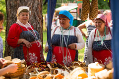 Local people celebrated Ivan Kupala Day, Jul 7, 2013, Tervenichi, Russia. Royalty Free Stock Photos