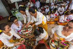Local people during ceremony Melasti Ritual. Stock Photography