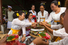 Local people during ceremony Melasti Ritual. Stock Images