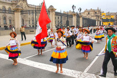 Local people dancing during Festival of the Virgin de la Candela Royalty Free Stock Image