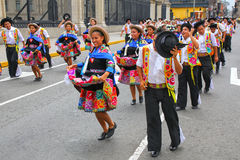 Local people dancing during Festival of the Virgin de la Candela Royalty Free Stock Photo