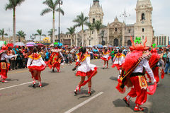 Local people dancing during Festival of the Virgin de la Candela Stock Images