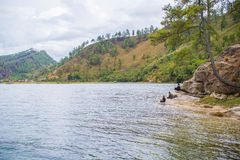 Local People Fishing in Lake Lut Tawar Takengon Aceh. Local people fishing in Lake Lut Tawar Takengon, Aceh, Indonesia Royalty Free Stock Photography