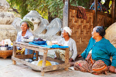 Local people in Mingun, Myanmar Royalty Free Stock Photos
