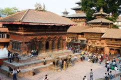 Local people resting at Durbar Square,Kathmandu,Nepal Royalty Free Stock Photos