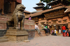 local people resting at Kathmandu Durbar Square, Nepal,Asia stock images