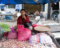 Local people sell local vegetables at the market ,  Indonesia. Stock Photo