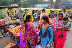 Local people shopping at Kinari Bazaar in Agra, Uttar Pradesh, I Royalty Free Stock Photography