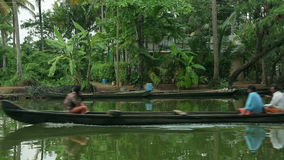 Local people travelling in boat Stock Images