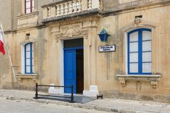 Local police station in Mdina, Malta. Maltese police station just inside the main city gate in the old city of Mdina, the ancient capital of Malta Royalty Free Stock Photos