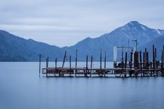 Local port. The local port at Chuzenji Lake in winter Royalty Free Stock Photography