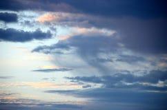 Local precipitation in a cloud Stock Photo