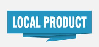 Local product. Sign.  paper origami speech bubble.  tag.  banner stock illustration