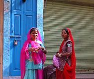 LOcal Rajasthani ladies in Jodhpur, India Stock Photography