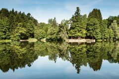 Local recreational area lake Ebnisee Royalty Free Stock Photos