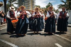 Local residents of Tenerife celebrate the Day of the Canary Islands, Tenerife royalty free stock photo