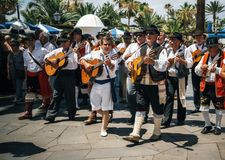 Local residents of Tenerife celebrate the Day of the Canary Islands, Tenerife stock photos