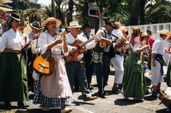 Local residents of Tenerife celebrate the Day of the Canary Islands, Tenerife royalty free stock photos