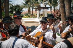 Local residents of Tenerife celebrate the Day of the Canary Islands, Tenerife stock image