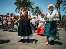 Local residents of Tenerife celebrate the Day of the Canary Islands, Tenerife stock images