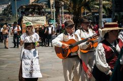Local residents of Tenerife celebrate the Day of the Canary Islands, Tenerife stock photo