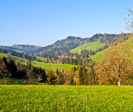 Local road at Appenzell farm ville Royalty Free Stock Photos