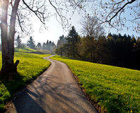 Local road at Appenzell farm ville Royalty Free Stock Images